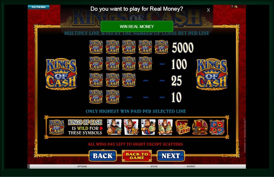 kings of cash slot machine detail image 3