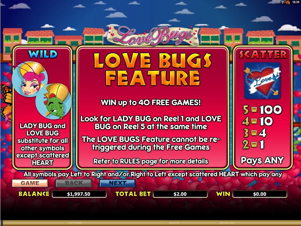 love bugs slot machine detail image 5