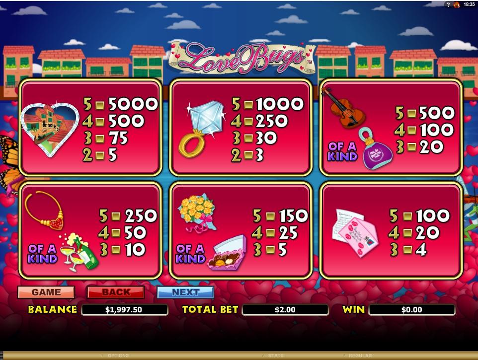 love bugs slot machine detail image 4