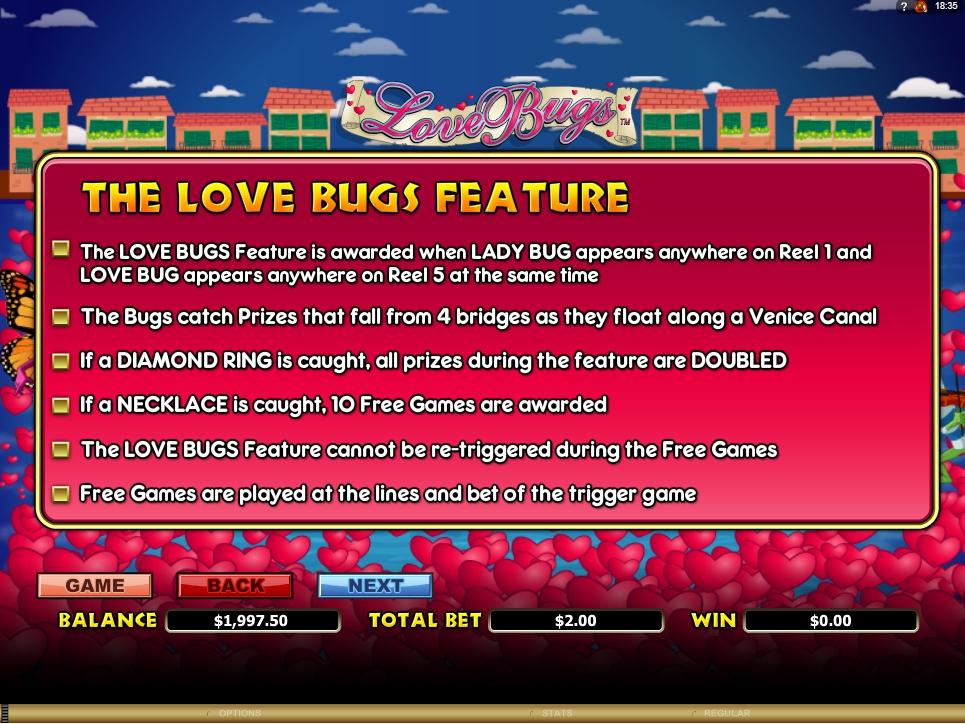 love bugs slot machine detail image 3