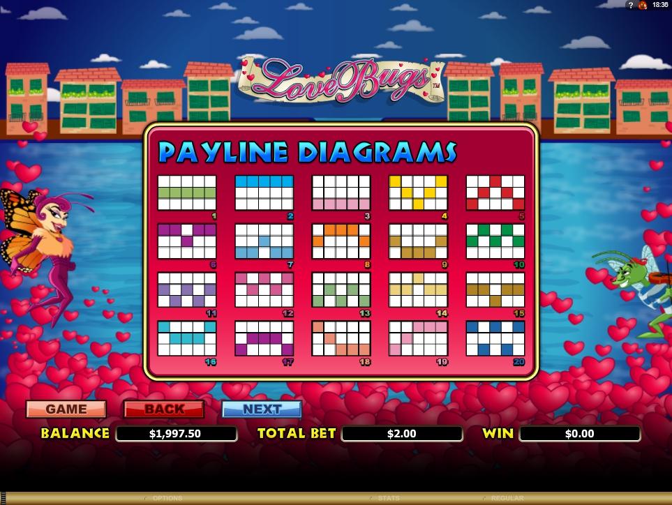 love bugs slot machine detail image 1