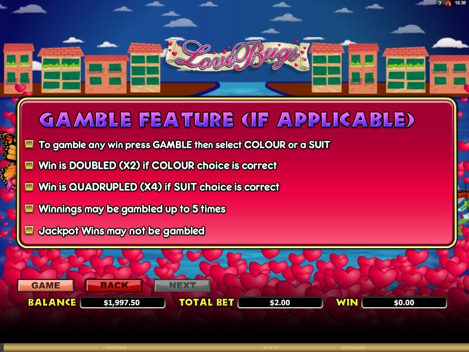 love bugs slot machine detail image 0