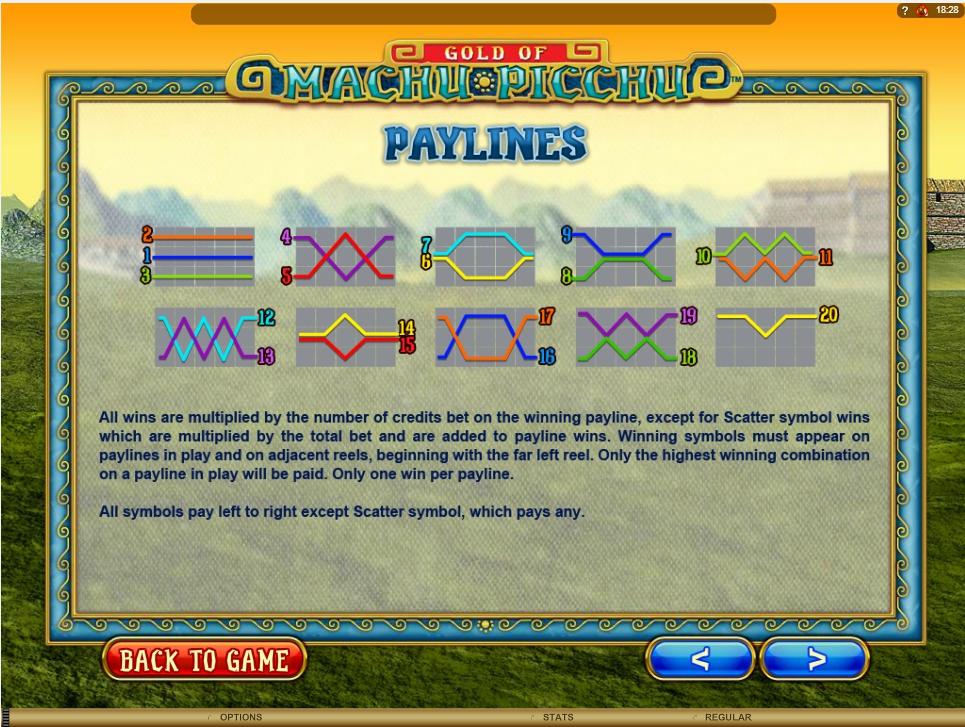 machu picchu slot machine detail image 6
