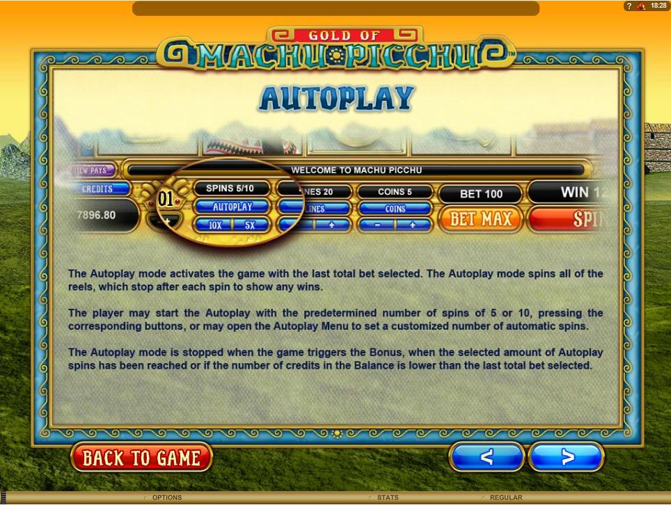 machu picchu slot machine detail image 5