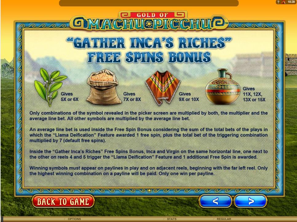 machu picchu slot machine detail image 2