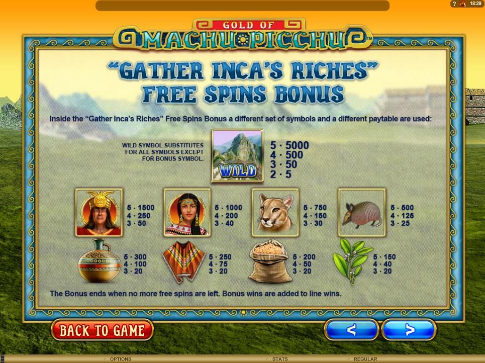 machu picchu slot machine detail image 1