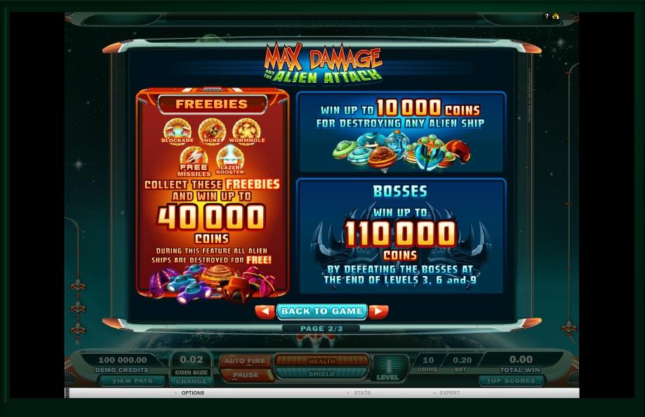 max damage slot machine detail image 1