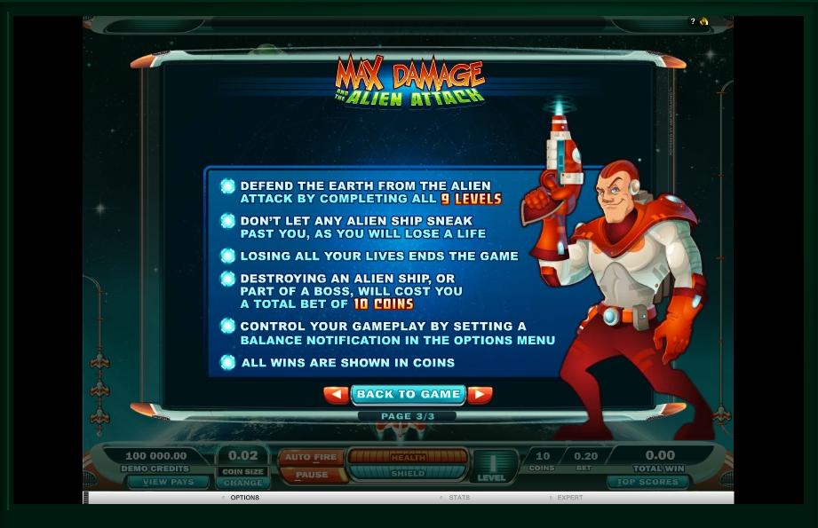max damage slot machine detail image 0
