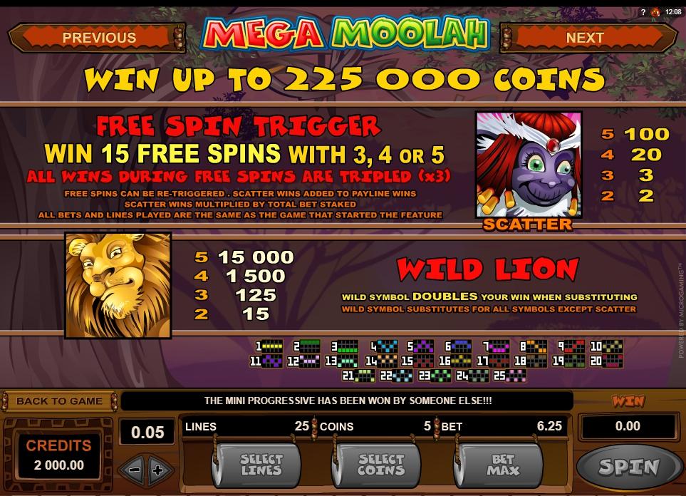 mega moolah isis slot slot machine detail image 4