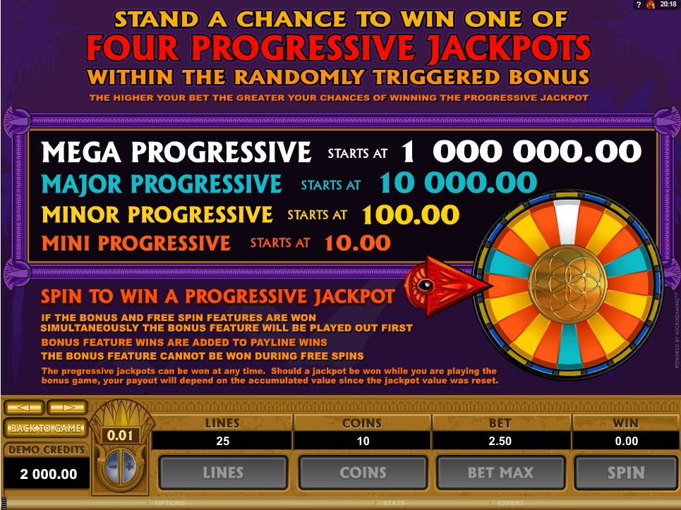 mega moolah isis slot slot machine detail image 2