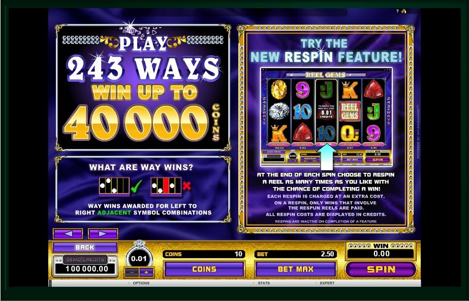 reel gems slot machine detail image 2