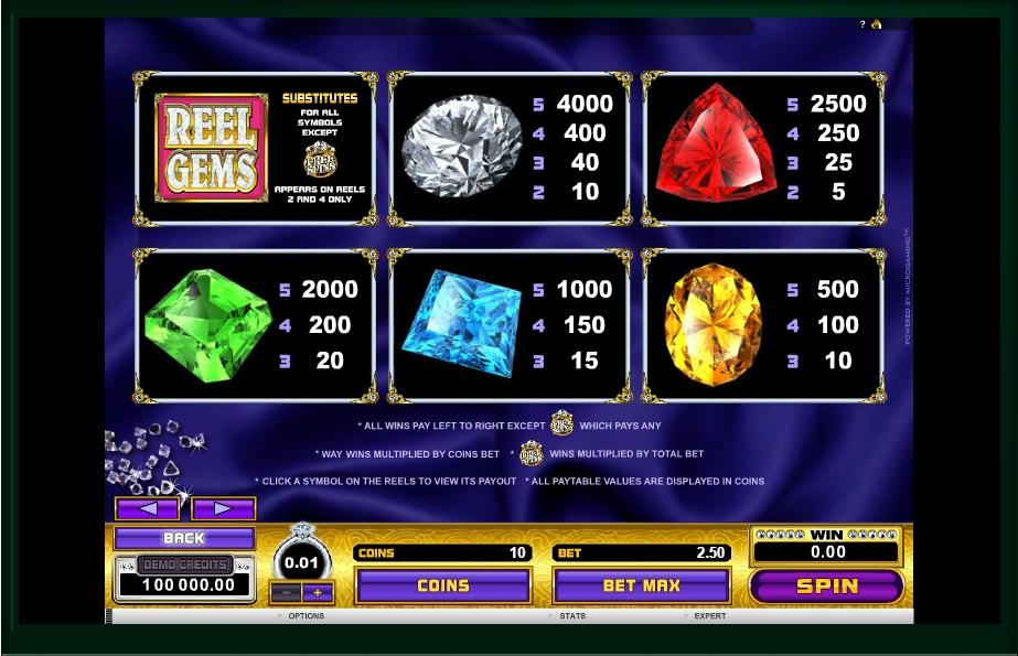 reel gems slot machine detail image 1