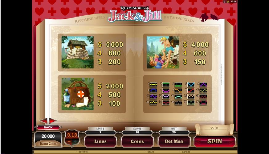 rhyming reels jack & jill slot machine detail image 1