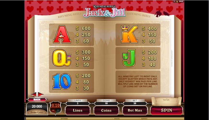rhyming reels jack & jill slot machine detail image 0