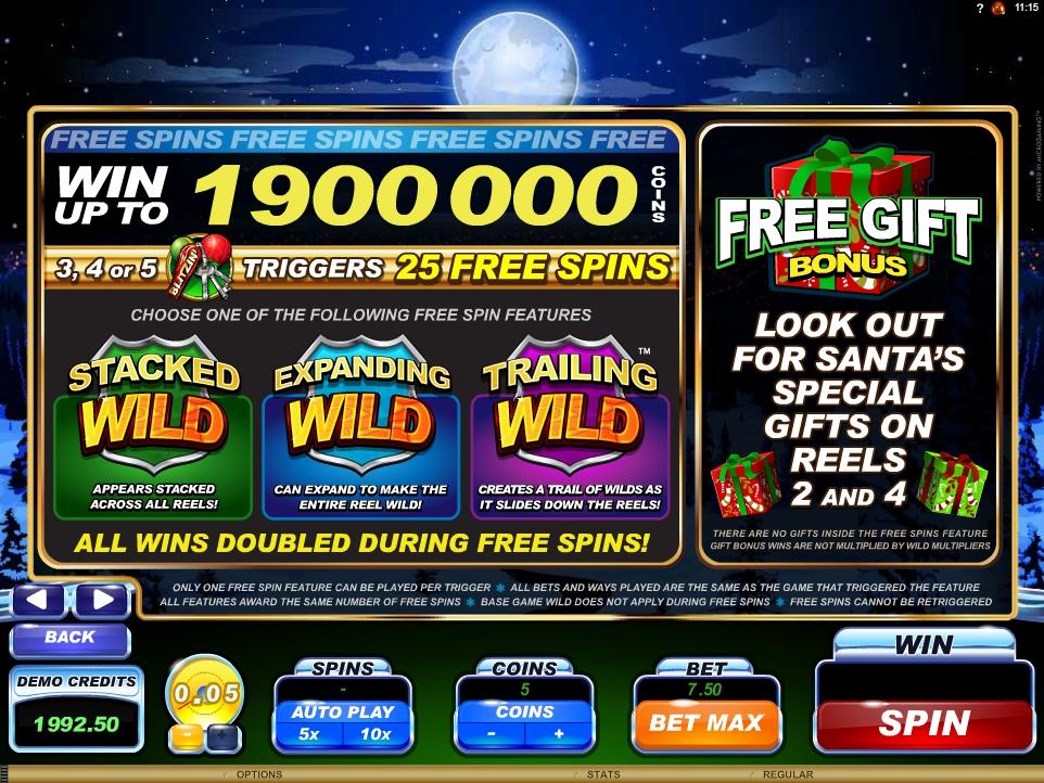 santa's wild ride slot machine detail image 2