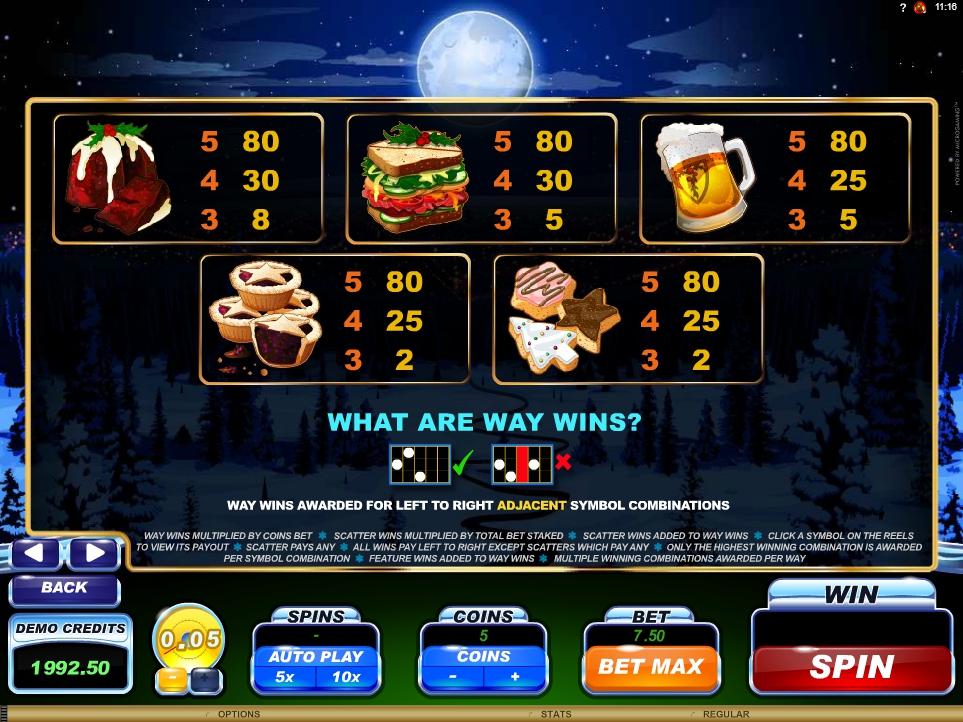santa's wild ride slot machine detail image 0
