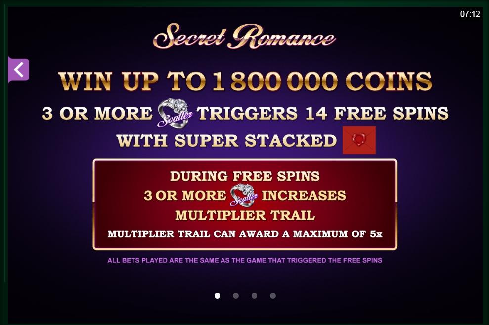 secret romance slot machine detail image 0