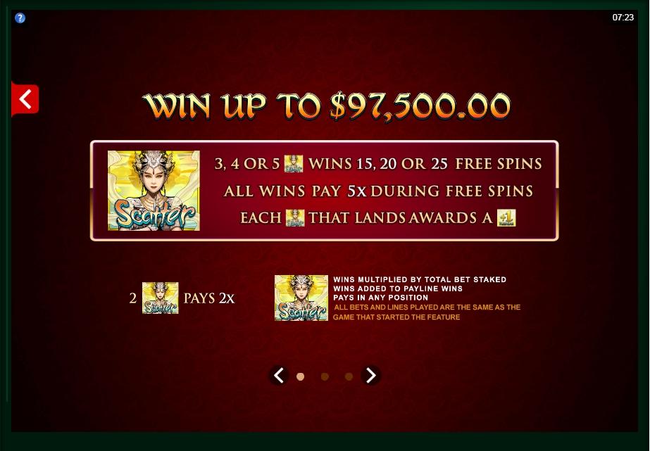 six acrobats slot machine detail image 2