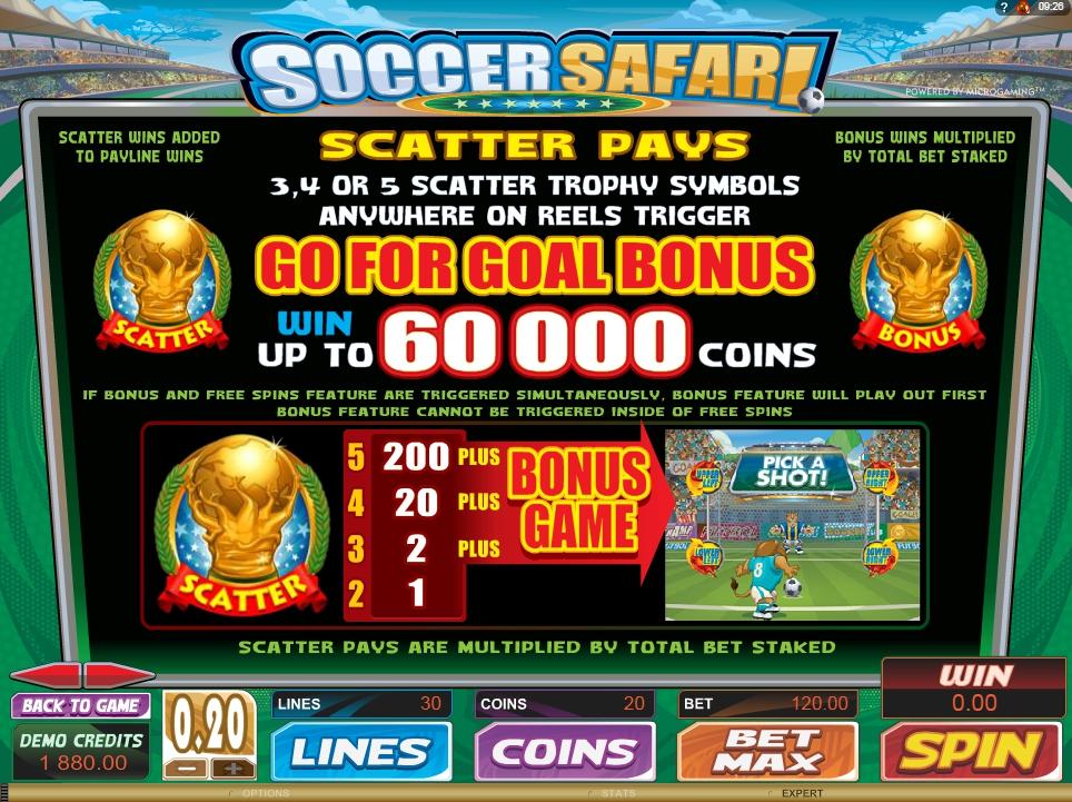 soccer safari slot machine detail image 3