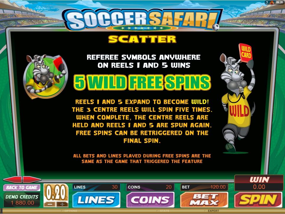 soccer safari slot machine detail image 2