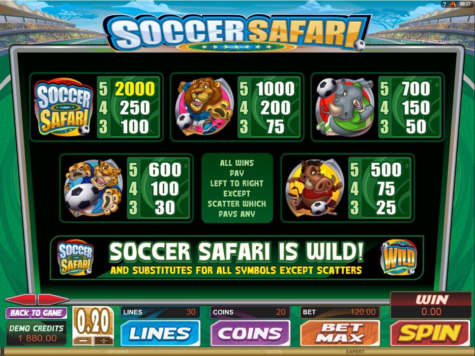 soccer safari slot machine detail image 1