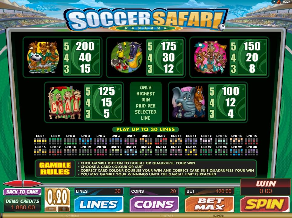 soccer safari slot machine detail image 0