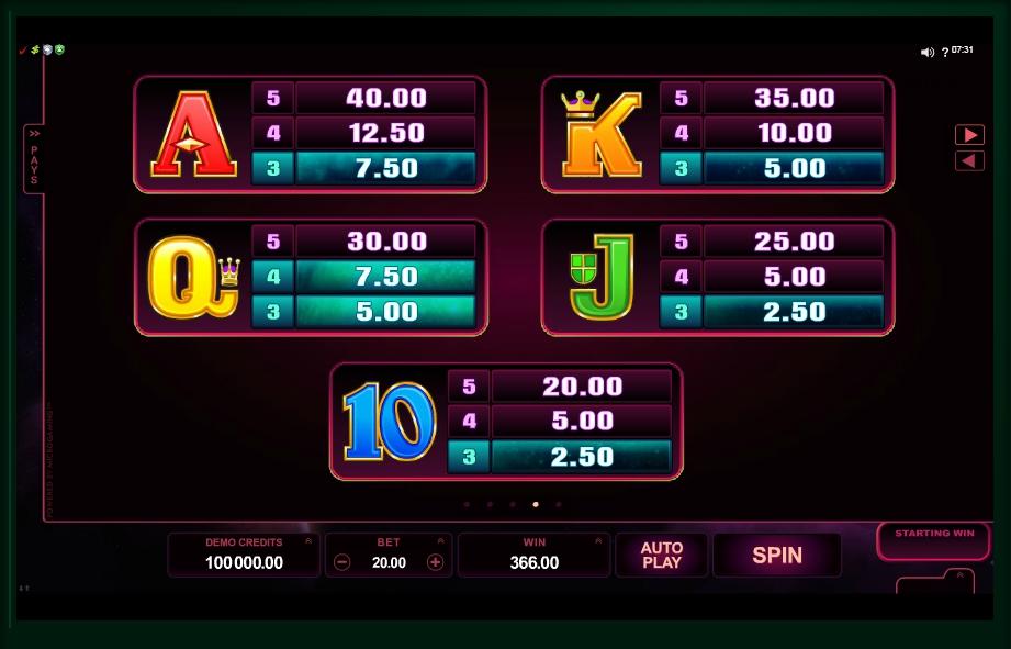 Play No Download StarDust Slot Machine
