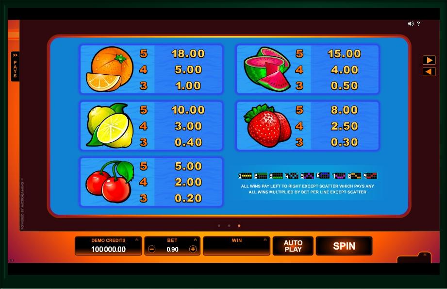Play No Download SunTide Slot Machine Free Here