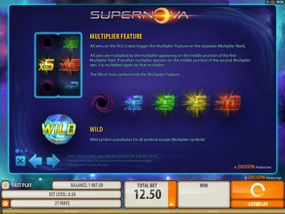 supernova slot slot machine detail image 2