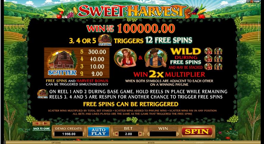 sweet harvest slot machine detail image 0