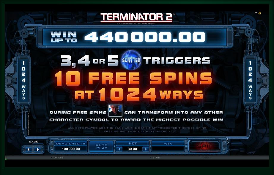 terminator 2 slot machine detail image 3