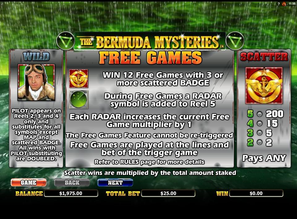 the bermuda mysteries slot slot machine detail image 7