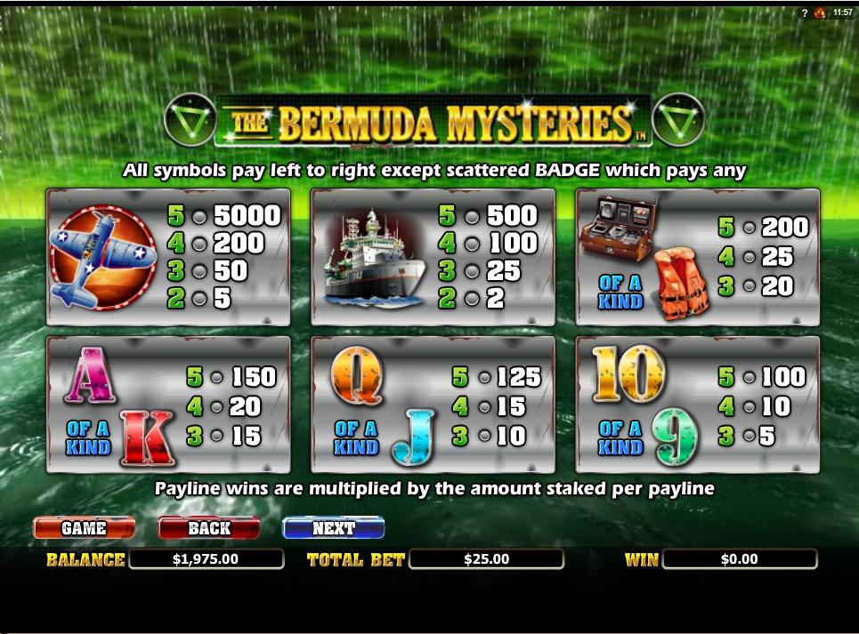 the bermuda mysteries slot slot machine detail image 5