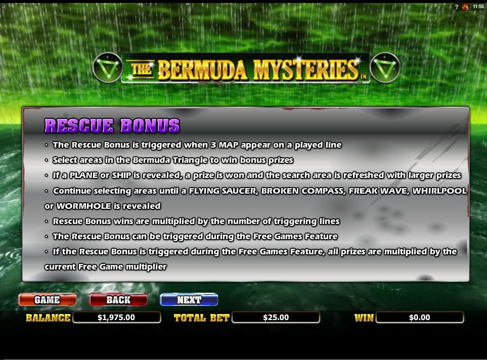 the bermuda mysteries slot slot machine detail image 3