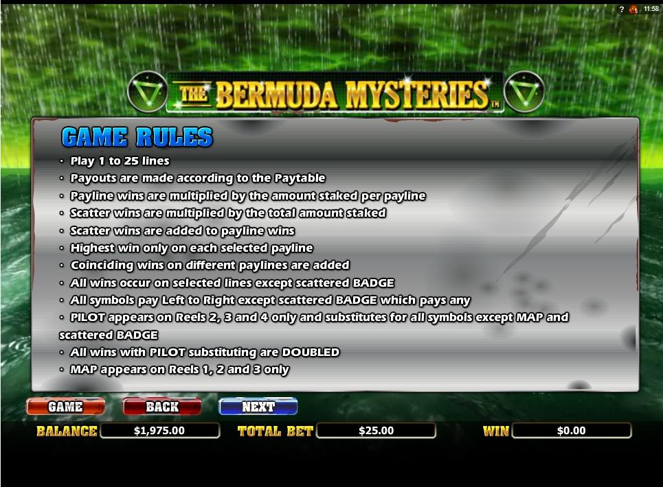 the bermuda mysteries slot slot machine detail image 2