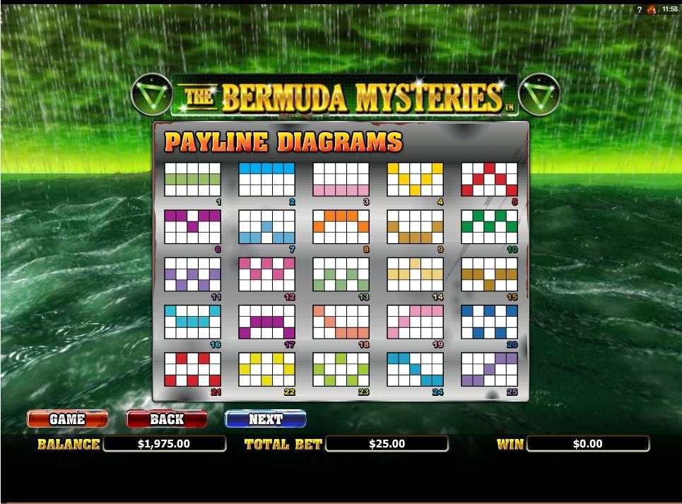 the bermuda mysteries slot slot machine detail image 1