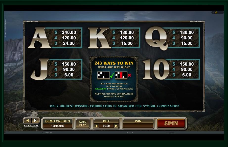 untamed crowned eagle slot machine detail image 0
