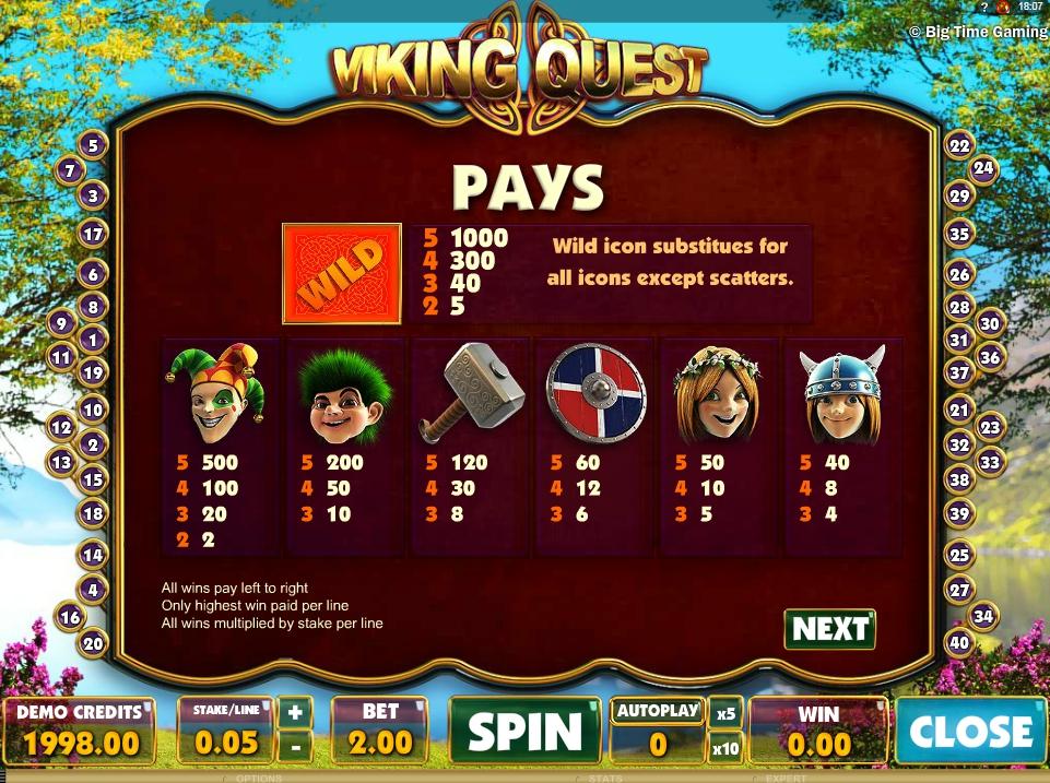 vikings quest slot machine detail image 5