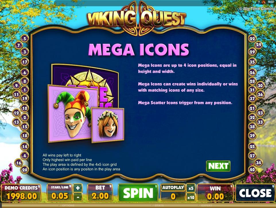 vikings quest slot machine detail image 4