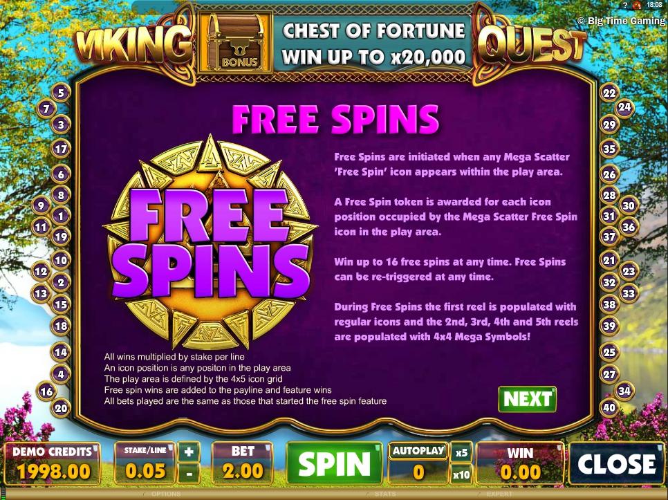 vikings quest slot machine detail image 3