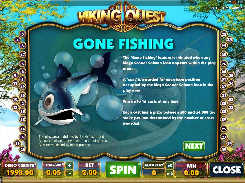 vikings quest slot machine detail image 2