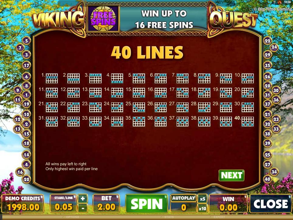 vikings quest slot machine detail image 0
