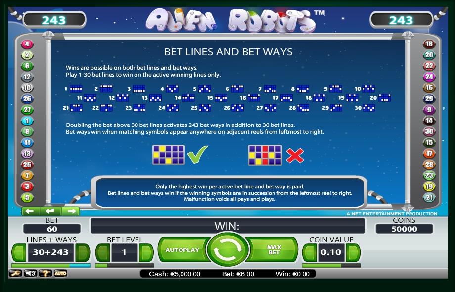 alien robots slot machine detail image 0