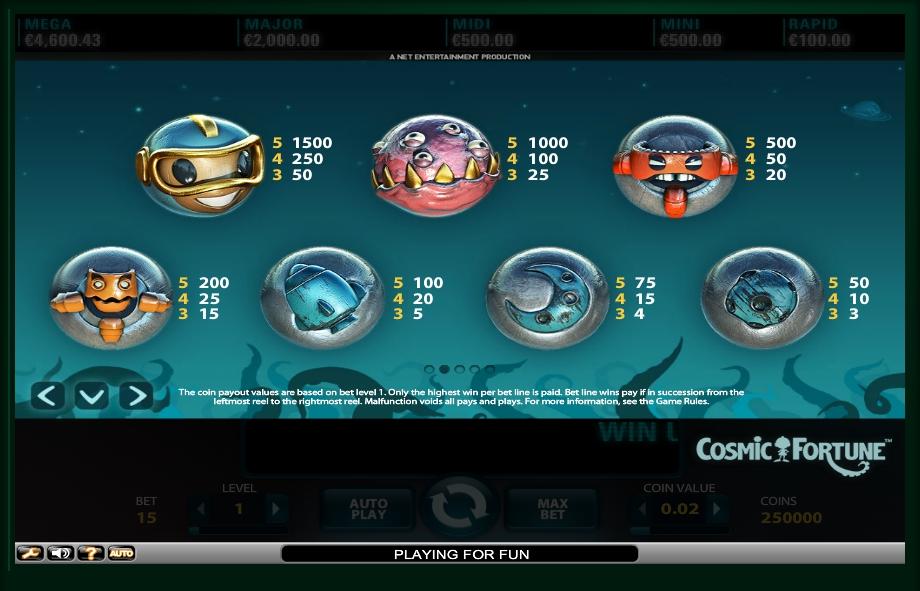 cosmic fortune slot machine detail image 4