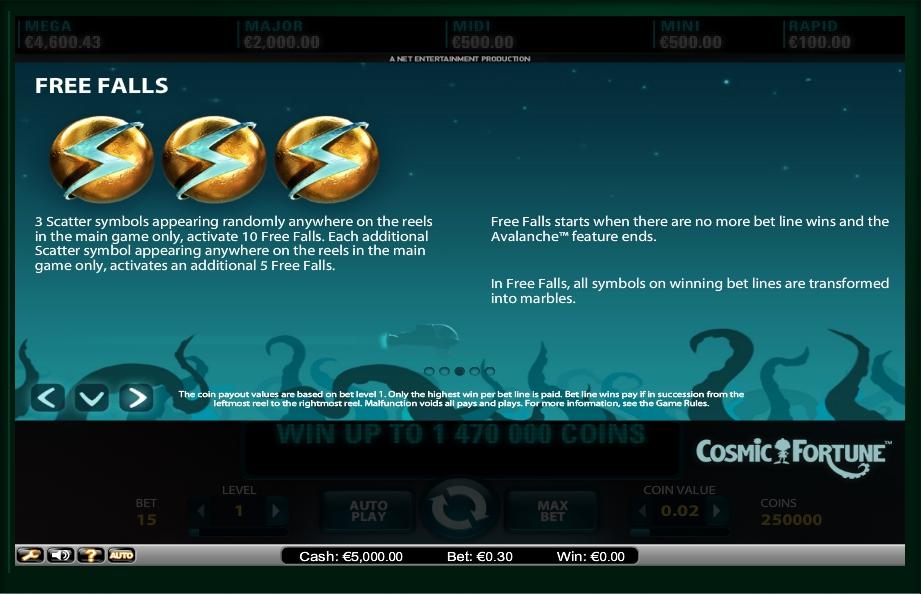 cosmic fortune slot machine detail image 3