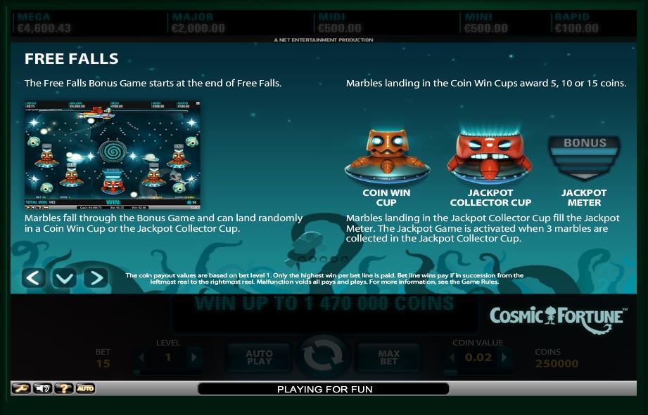 cosmic fortune slot machine detail image 2