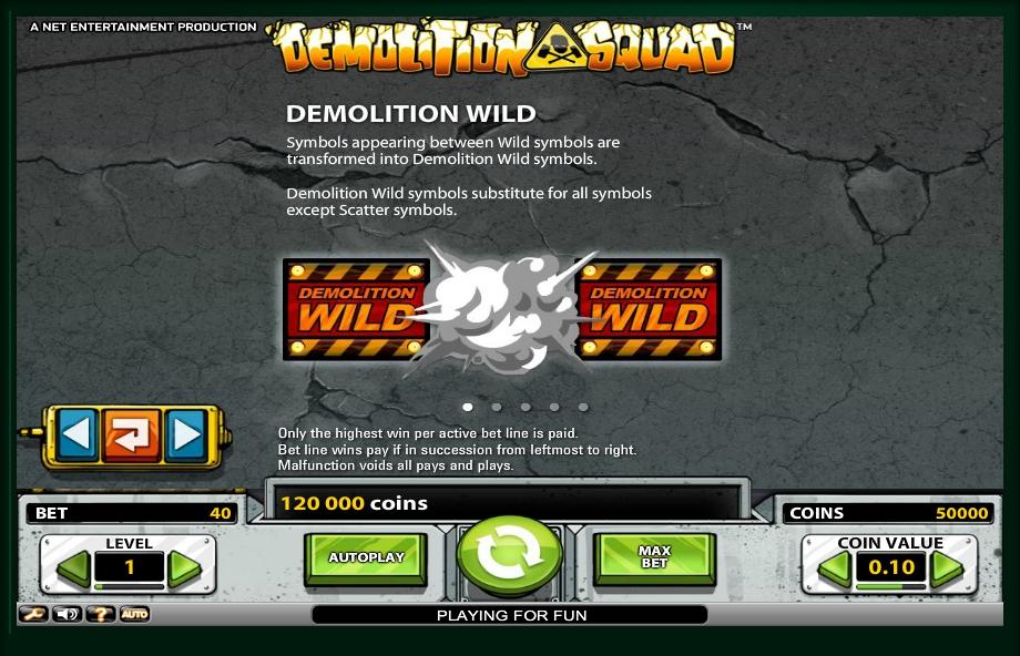 demolition squad slot machine detail image 4