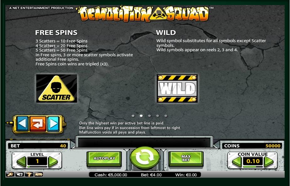demolition squad slot machine detail image 3
