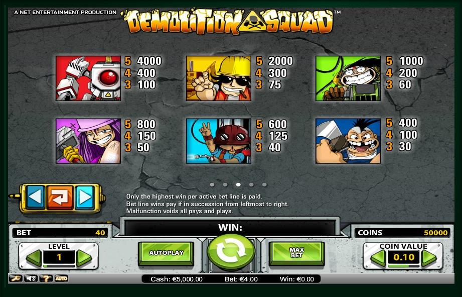 demolition squad slot machine detail image 2