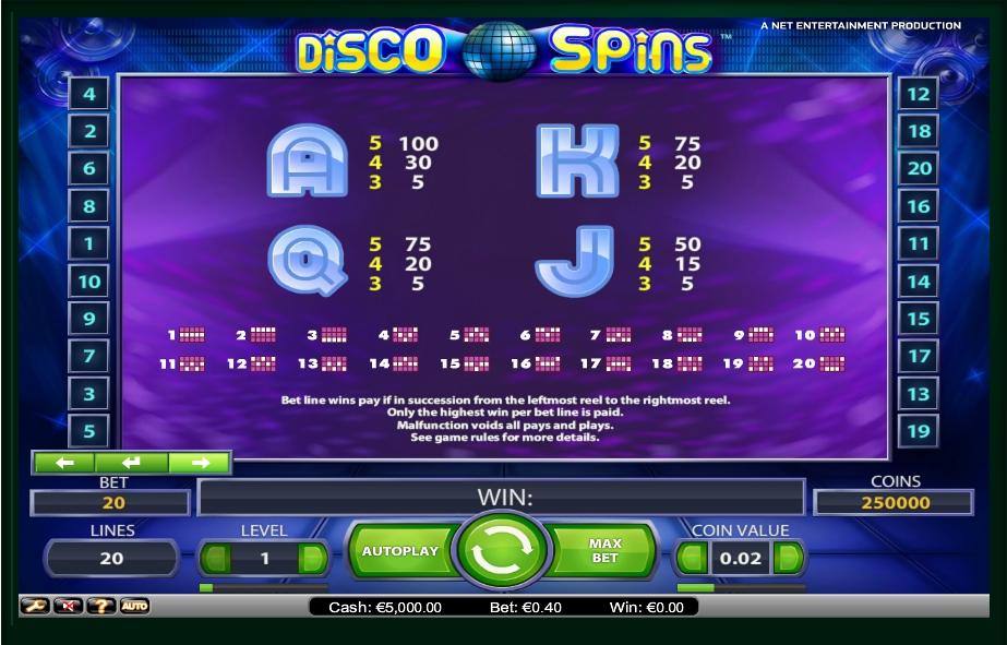 Disco Slot 80 Machine